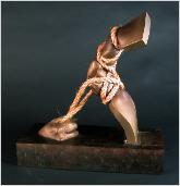 Contradiction 9 bronze sculpture by Daniel Rotblatt